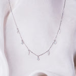 Lyna CZ Multi Stone Necklace