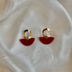 Wendy Half Moon Earring