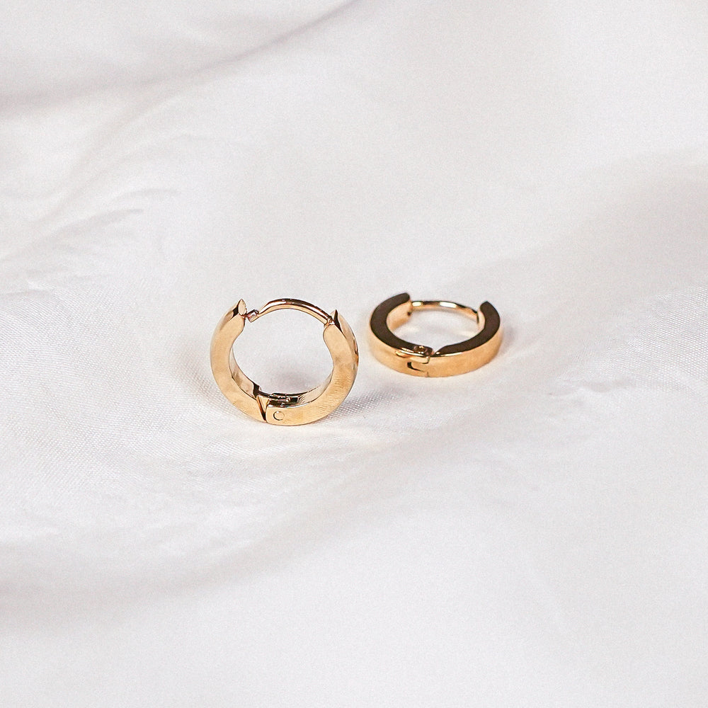 April Tiny Gold Huggie Earring