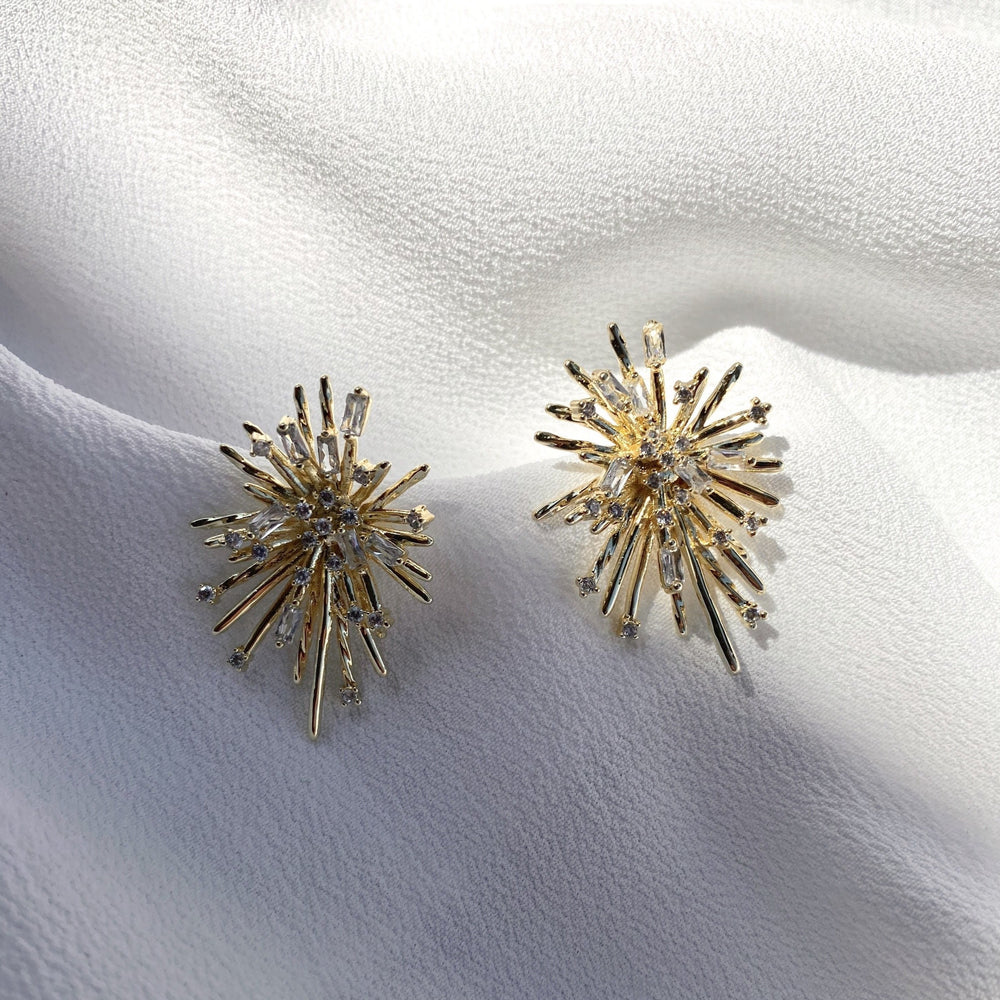 Claudia CZ Gold Plated Earrings