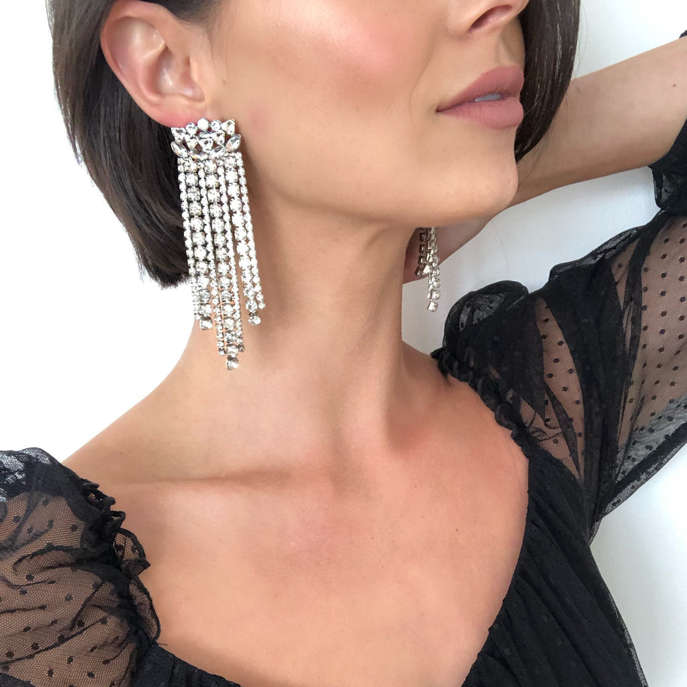 Thalia Crystal Fringe Earrings