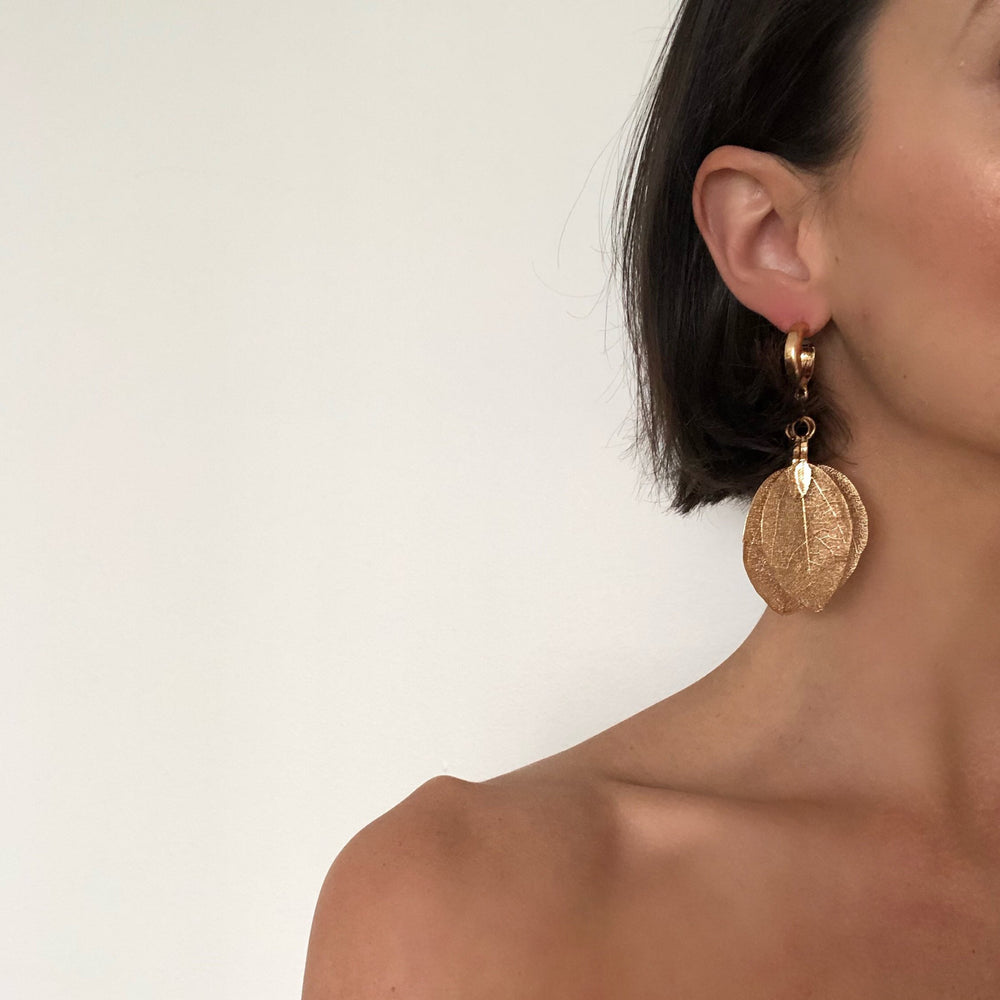 Elea Golden Leafs Earrings
