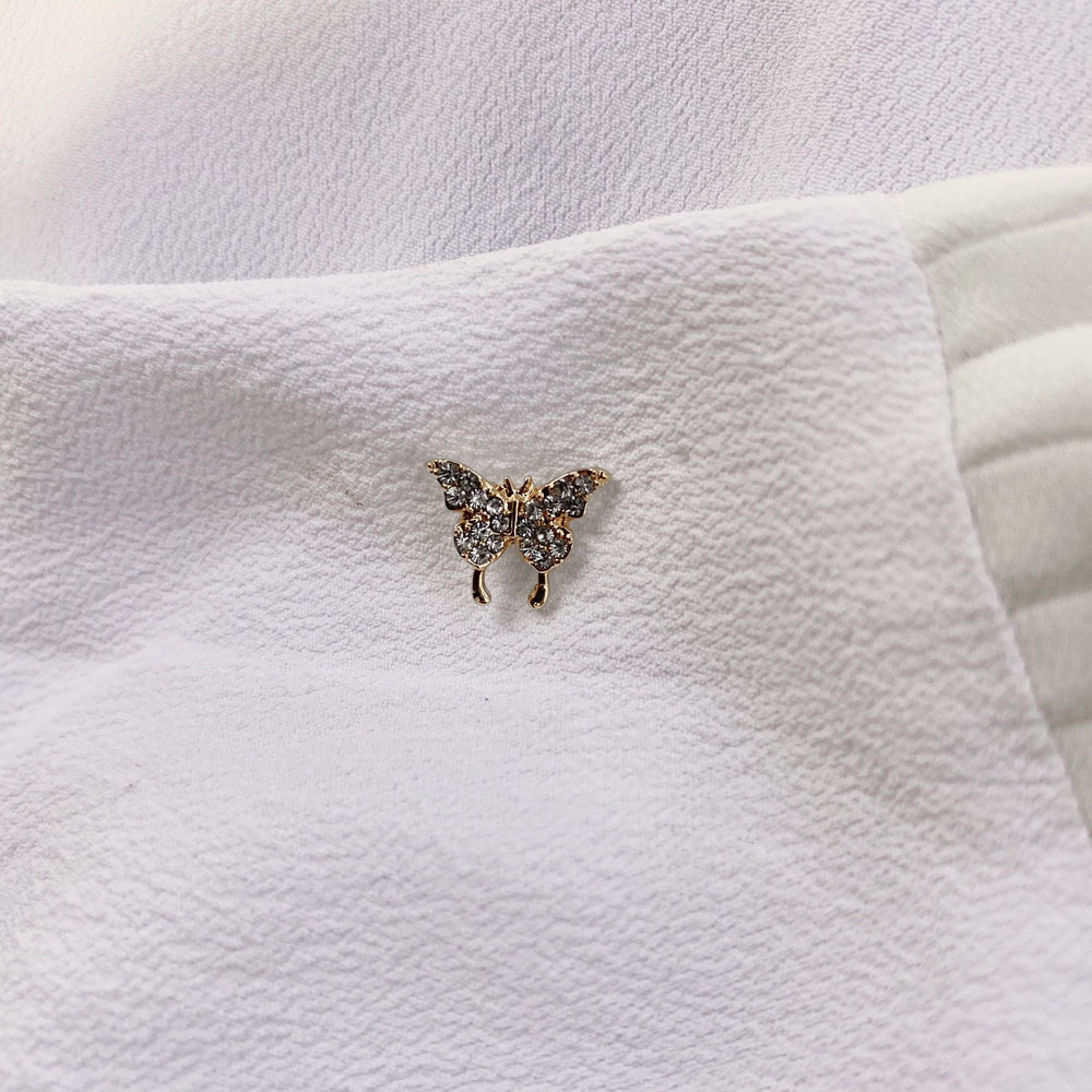 Butterfly Stud Plated Earrings