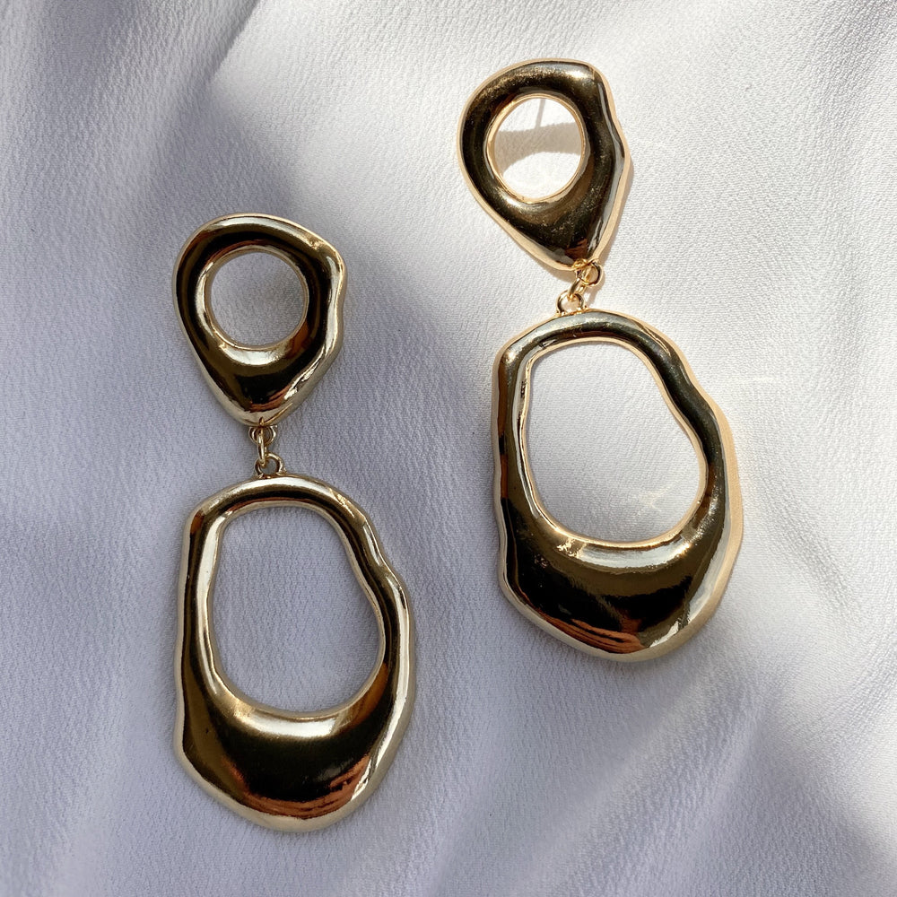 Bianca Statement Gold earrings