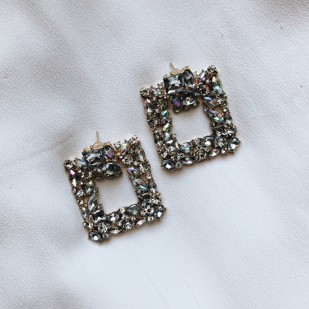 Justine Square Sparkle Earrings