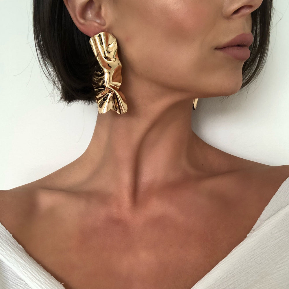 IIona Irregular Gold Earrings