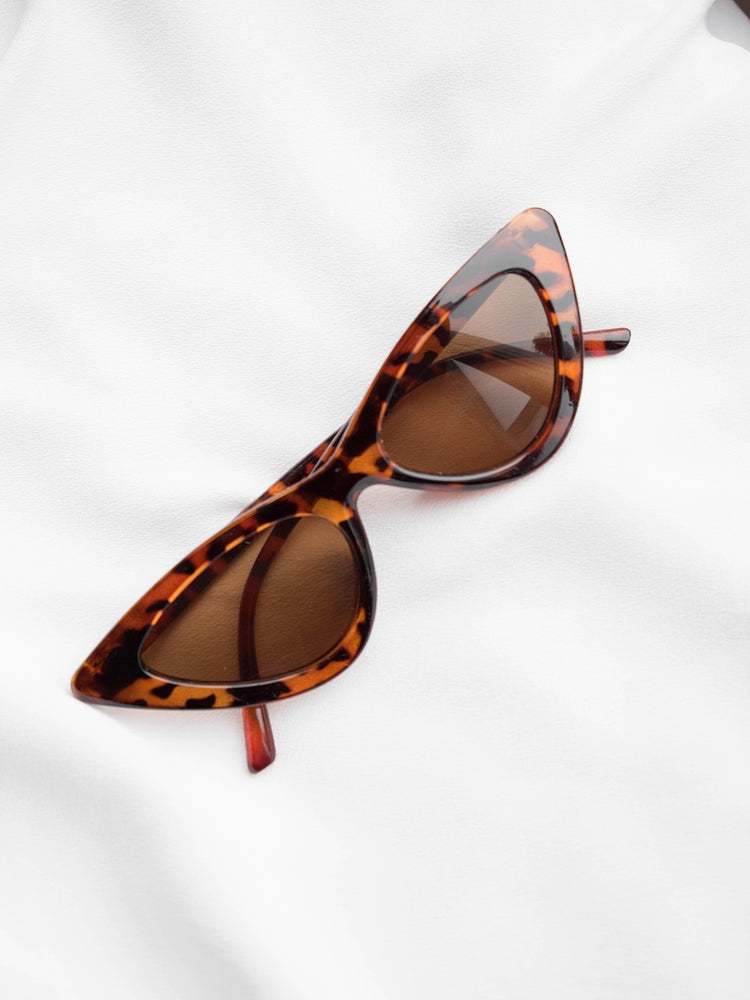Vicky Leopard Tea Eye Sunglasses