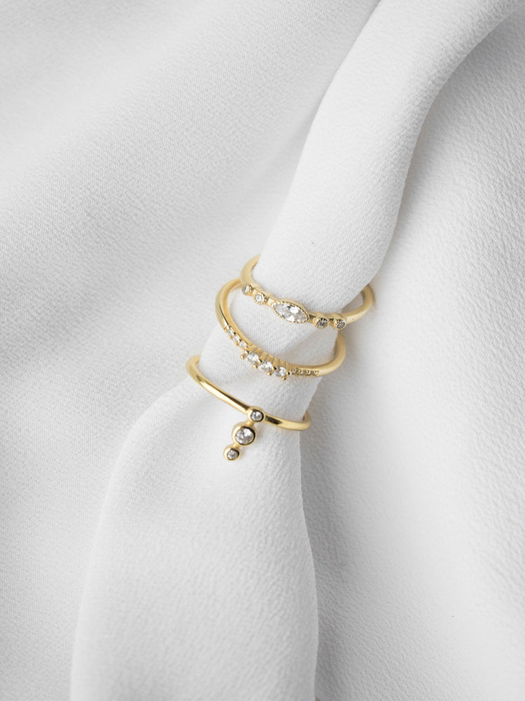 Laurie Gold Plated Stackable Rings