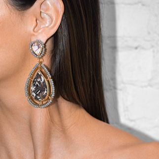 Ivonne Resin Statement Earrings