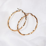 Jade Retro Gold Hoop Earring