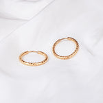 Rose Medium Gold Hoop Earring