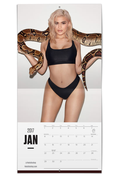 Official Kylie Jenner 2017 Calendar by Terry Richardson Kylie Holding snakes