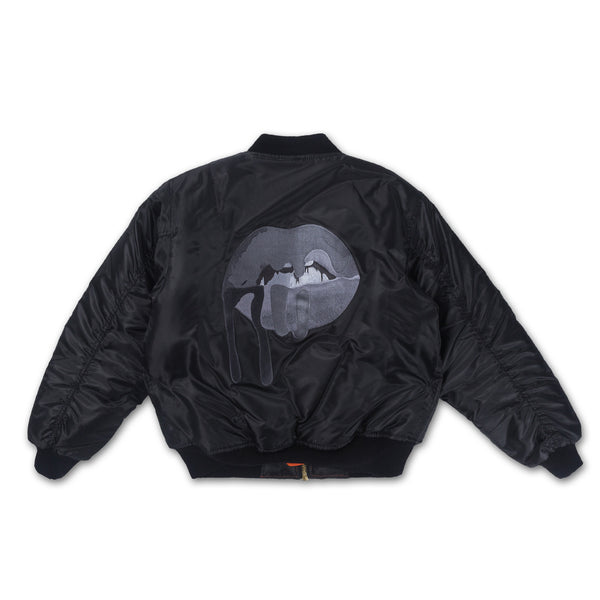 Blackout Lips Bomber
