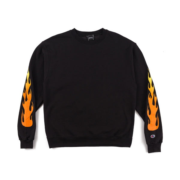 Flame Crewneck - Black