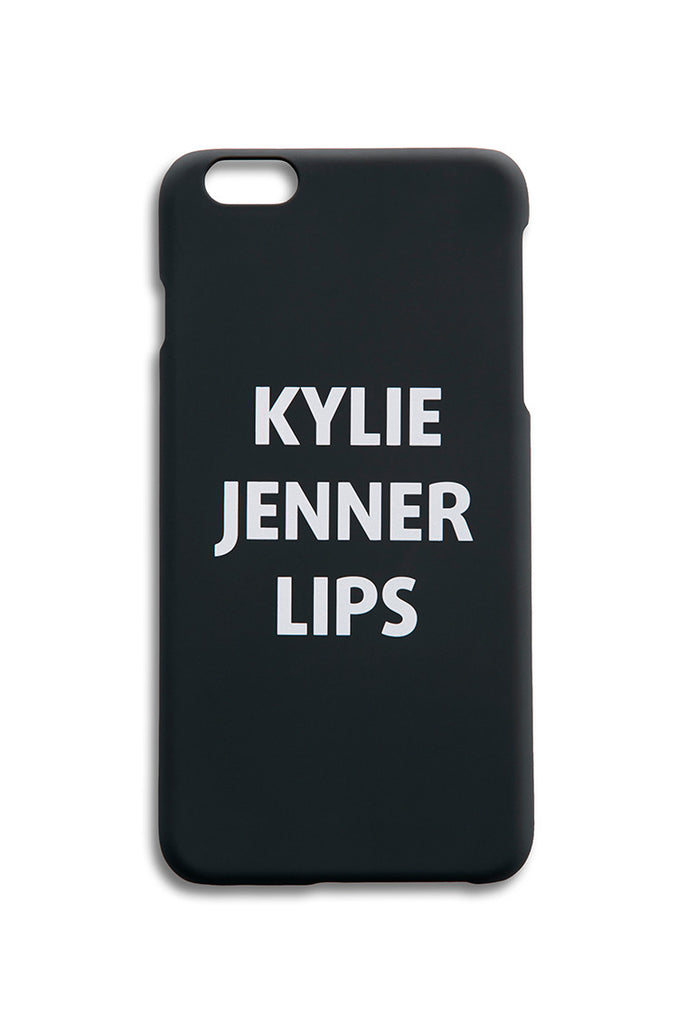 KYLIE JENNER LIPS iPhone Case black