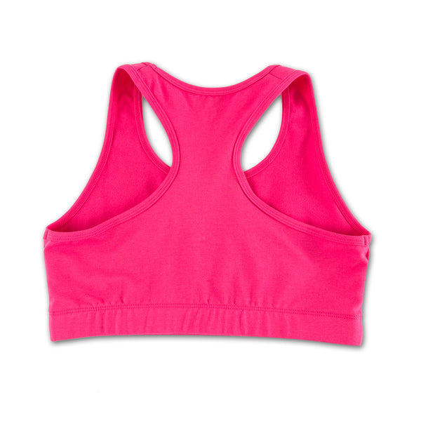 No Photos Please Pink Sports Set bra only back view