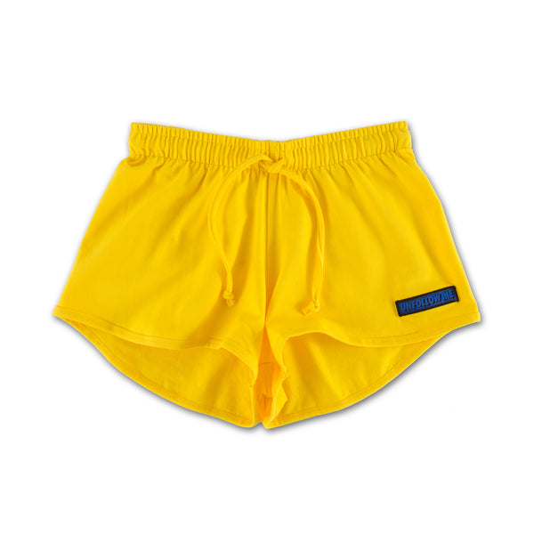 Unfollow Me Yellow Sports Set bottoms only front view