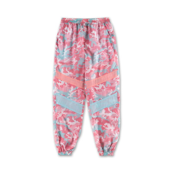 Camo Windbreaker Pants - Candy
