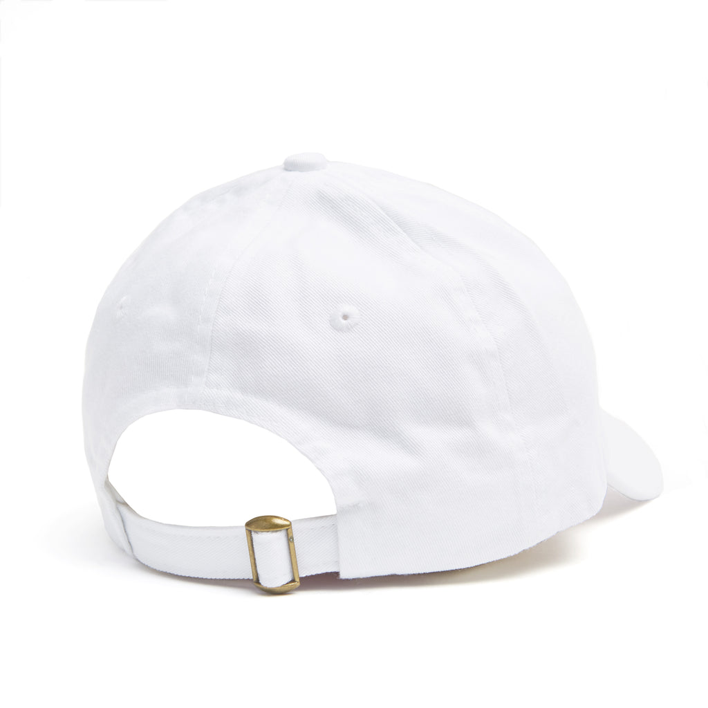 dbfb8c07f107b ... White dad hat with Kylie lips logo on front back view ...