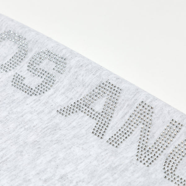Los Angeles Pop Up Sweatpants - Grey logo down side cropped close up view