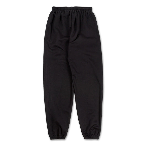 Los Angeles Pop Up Sweatpants - Black with red logo down side back view
