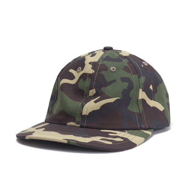 Front view Camo Dad Hat - Green