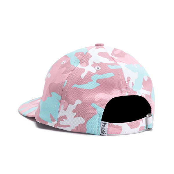 Back view Pink Woodland Camo Dad Hat