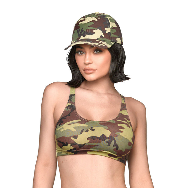 Camo Crop Top - Green