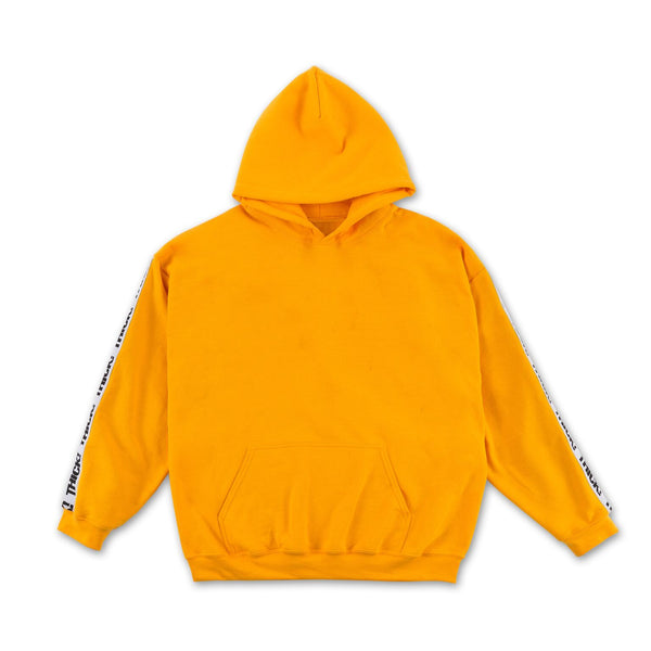 Thick! Elastic Band Hoodie in Mustard