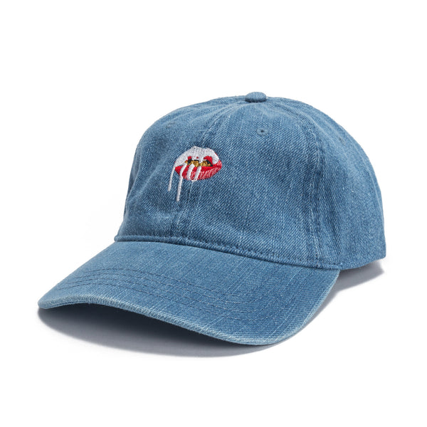 Lips Dad Hat - Denim