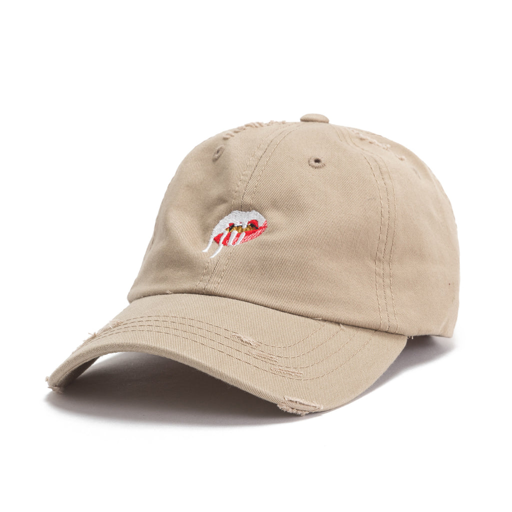 Lips Dad Hat - Distressed – Kylie Jenner Shop fb2a8166336b
