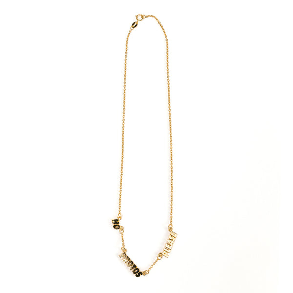 No Photos Please Necklace 18k gold
