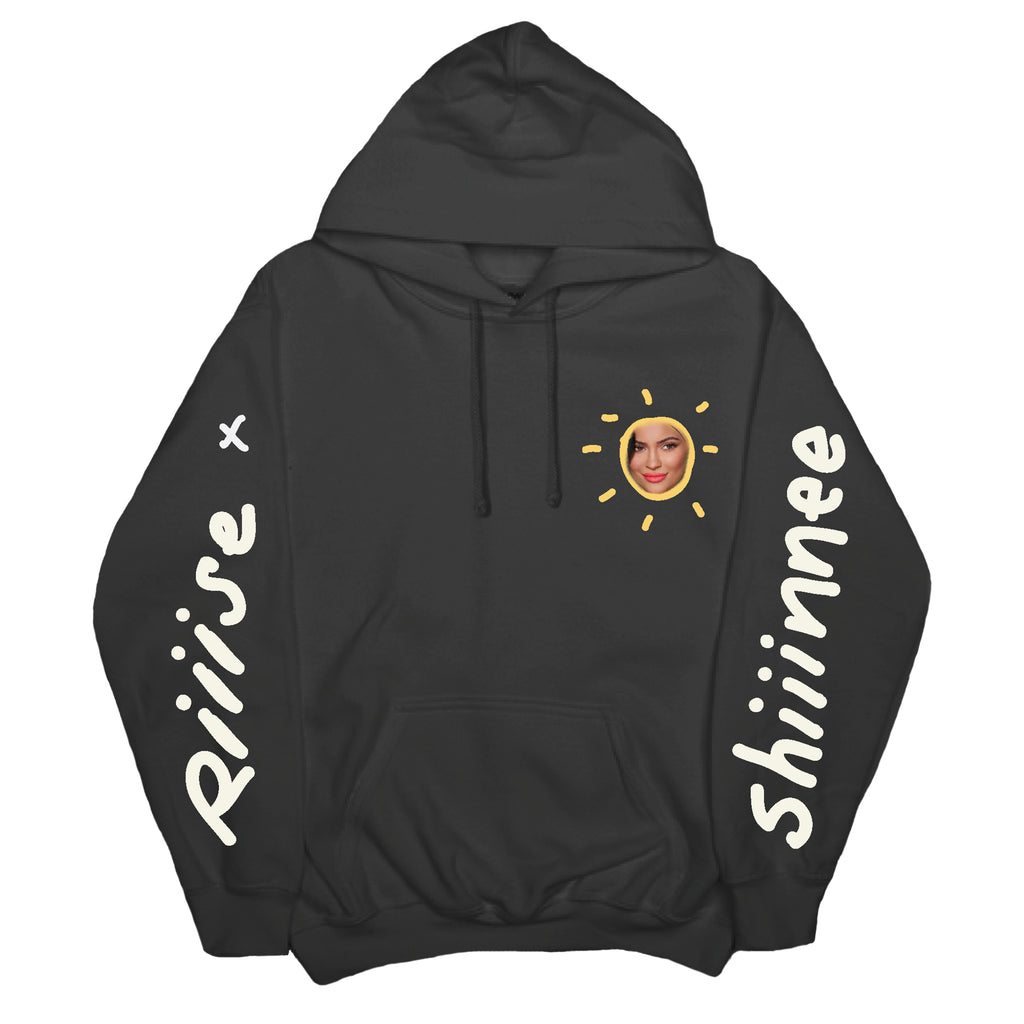 RISE AND SHINE HOODIE - BLACK