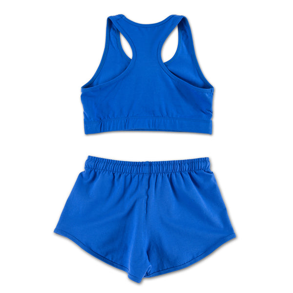 Bright Blue Chill Bitch Sports Top (Set) back view