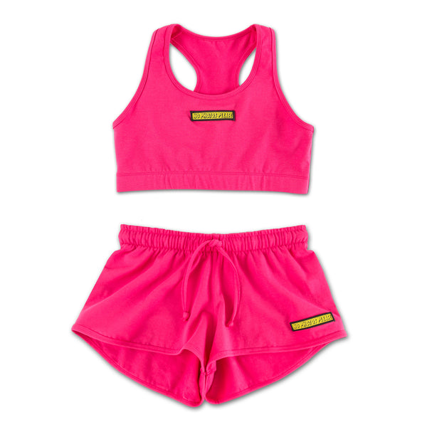 No Photos Please Pink Sports Set