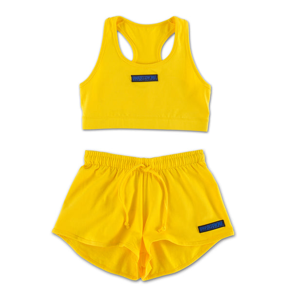 Unfollow Me Yellow Sports Set front view