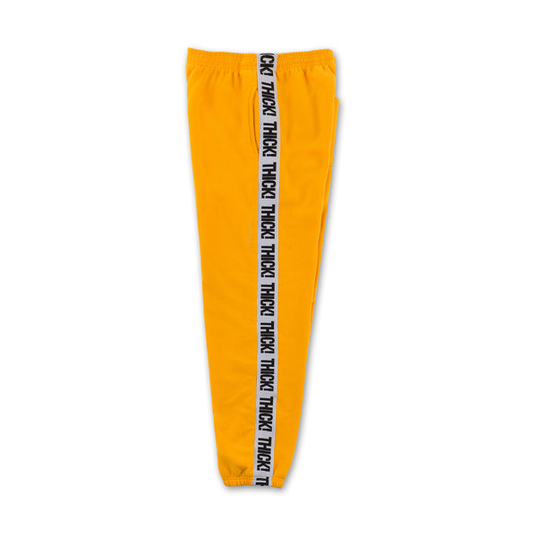 Thick! Elastic Band Sweatpants in Mustard