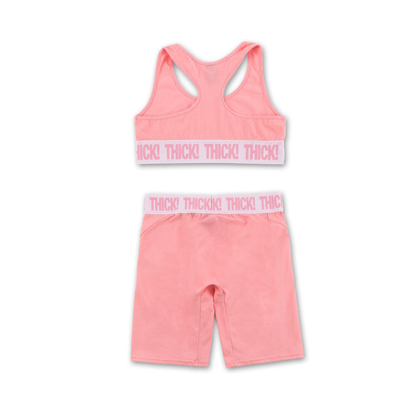 Thick! Sports Set - Pink front view