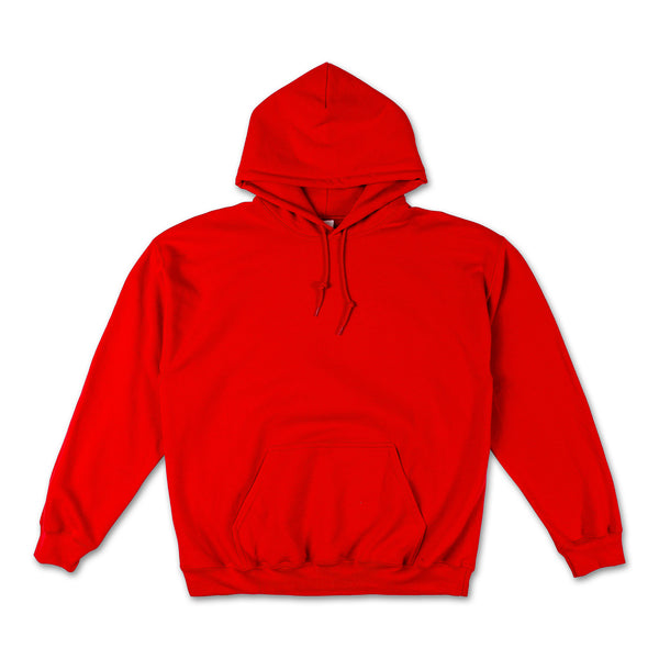 Kylie graphic hoodie in red with money falling Back