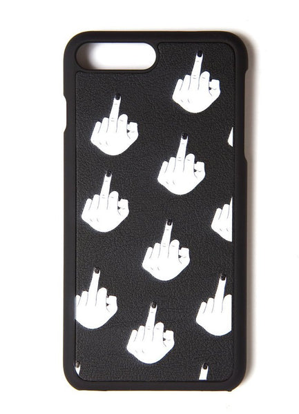Middle Finger Phone Case black back view