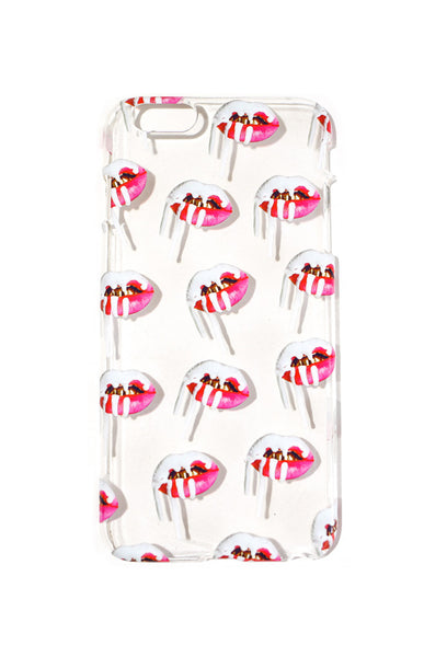 Pink Lips iPhone Case
