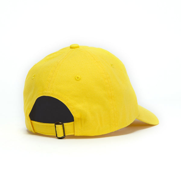 Unfollow Me Yellow Bright Dad Cap back view