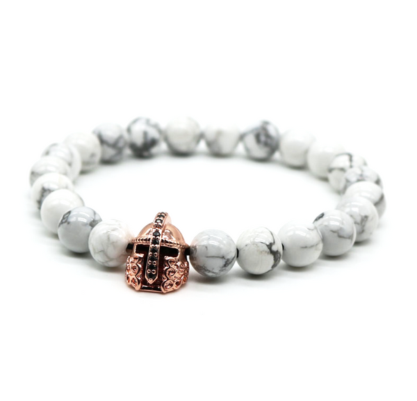 white turquoise gemstone men's bracelet natural luxury