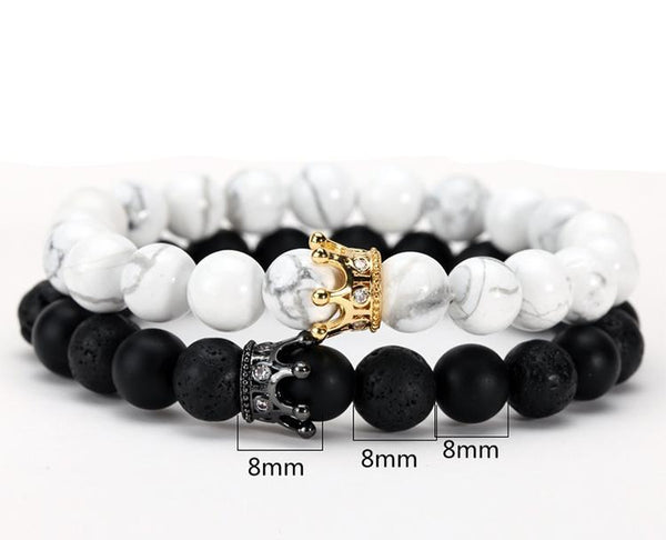 Zeus Crown Couple Bracelets