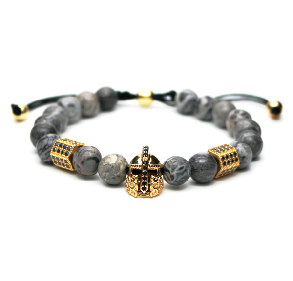 stone jasper gemstone men's bracelet natural luxury