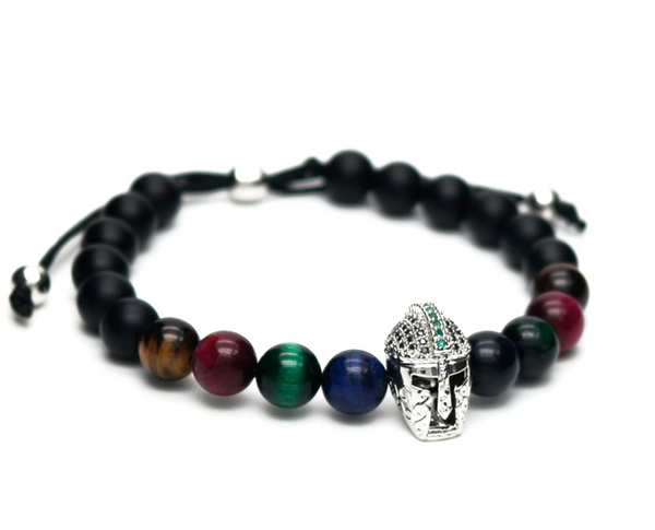 achilles gemstone men bracelet jewelry natural luxury