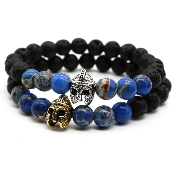 lava blue sea gemstone men's bracelet natural luxury