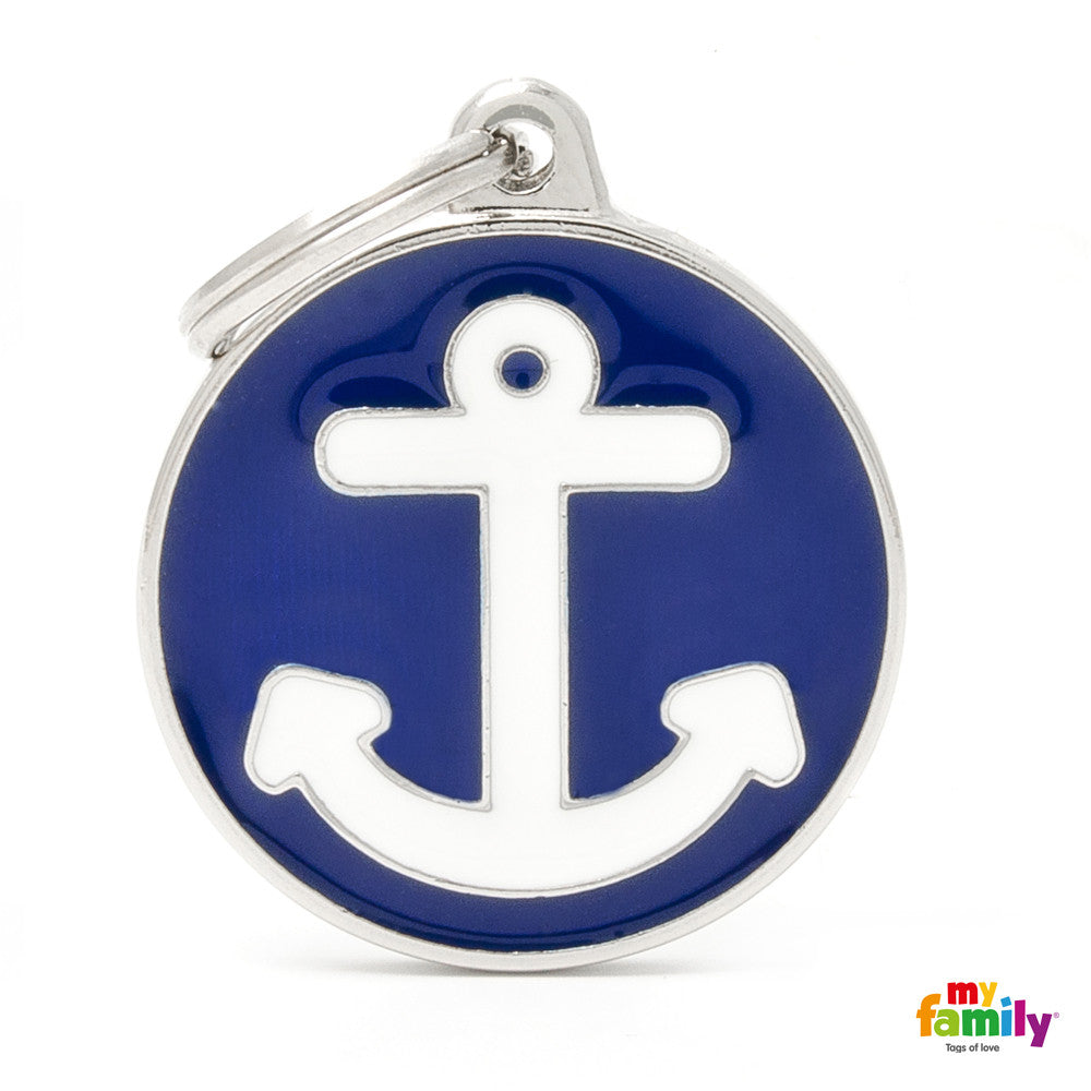 Sailor Anchor Tag Charm