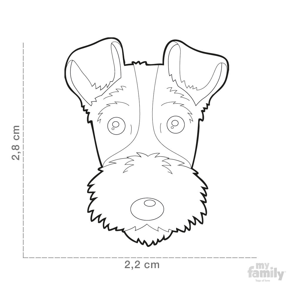 [product vendor]Friends Fox Terrier Tag CharmDog