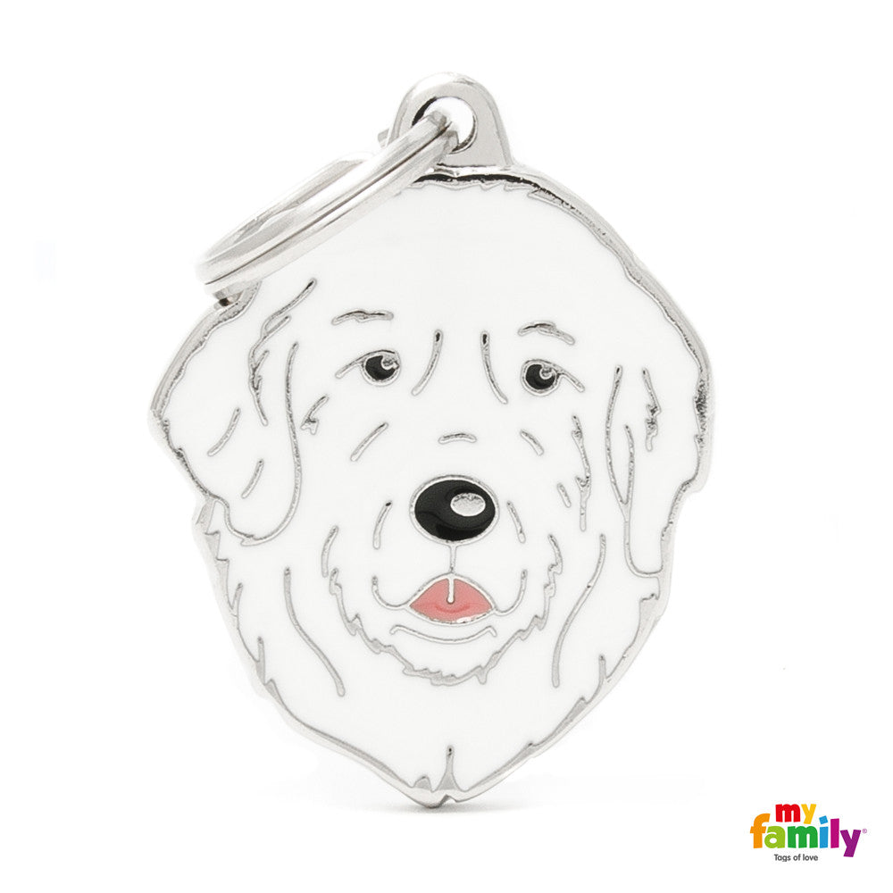 [product vendor],Friends Patou Great Pyrenees Tag Charm,Dog